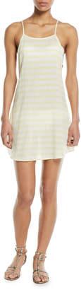 Sasha Open-Back Striped Mini Coverup Sun Dress