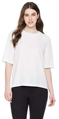 Essentialist Women's Half Sleeve Blouse Two-Way Zipper Back