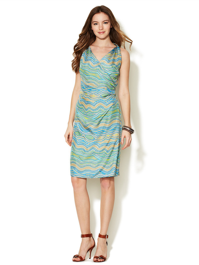 Lafayette 148 New York Leola Silk Printed Wrap Dress