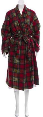 Christian Dior Plaid Robe