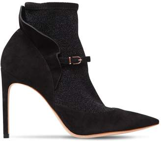 Sophia Webster 100mm Lucia Suede & Lurex Ankle Boots