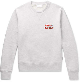 Ami Printed Cotton-Jersey Sweatshirt