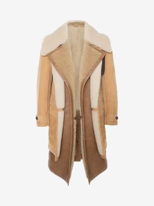 Alexander McQueen Dual Layer Shearling Coat
