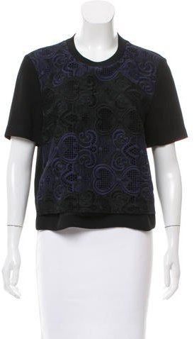 A.L.C. A.L.C. Silk Short-Sleeve Top