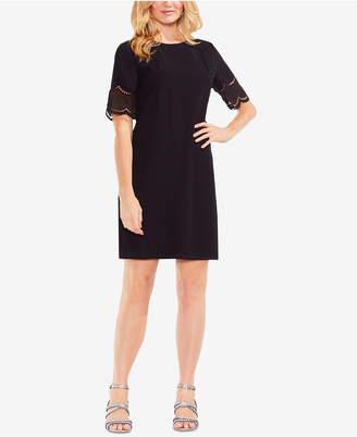 Vince Camuto Lace-Trim Shift Dress