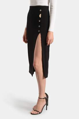 Dahlia Cushnie Black Pencil Skirt
