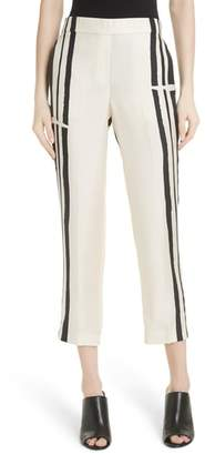 Theory Hans Stripe Pull-On Silk Trousers