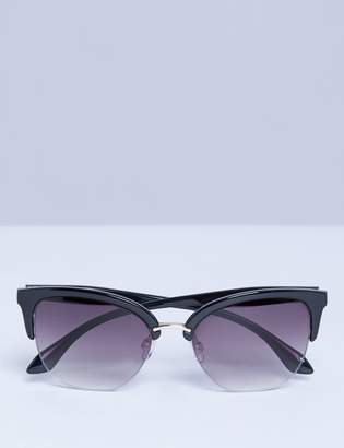 Lane Bryant Half Frame Cateye Sunglasses