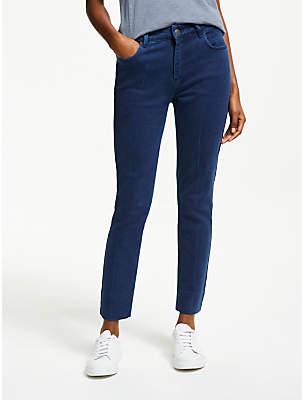 Iden Chalk Stripe Slim Leg Jeans, Dark Indigo