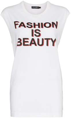 Dolce & Gabbana Fashion is beauty' tank top