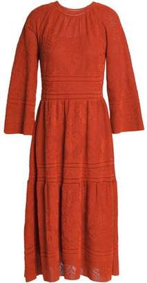 M Missoni Gathered Crochet Cotton-Blend Dress