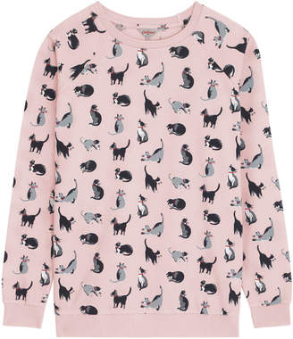 Cath Kidston Painted Cats Printed Lightweight Sweatshirt