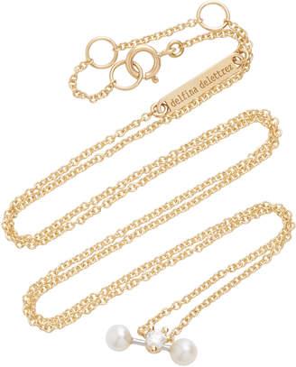 Delfina Delettrez Convertible 18K Gold Diamond and Pearl Necklace