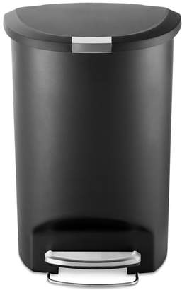 9d3c66179b3 Williams-Sonoma simplehuman Semi Round Plastic Step Trash Can 50L
