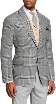 Brunello Cucinelli Men's Retro Prince of Wales Plaid Sport Jacket