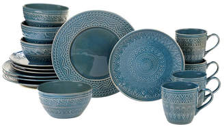 Certified International Aztec Teal 16-Pc. Dinnerware Set