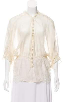 Elizabeth and James Casual Short Sleeve Blouse