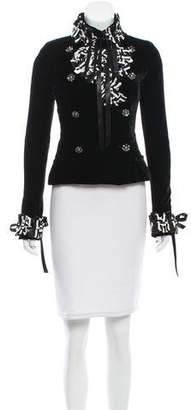 Chanel Embellished Velvet Jacket
