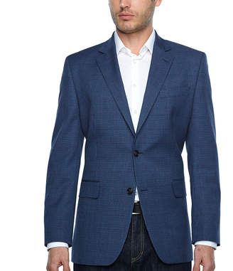STAFFORD Stafford Year Round Stretch Classic Fit Gingham Sport Coat