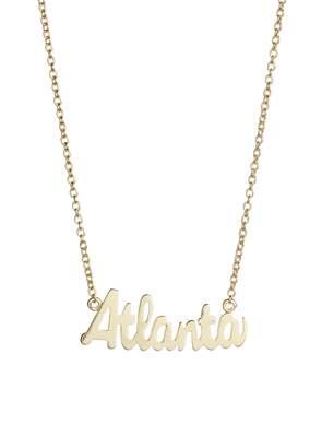 Argentovivo Script Atlanta Pendant Necklace