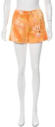 Oscar de la Renta Floral Mini Shorts