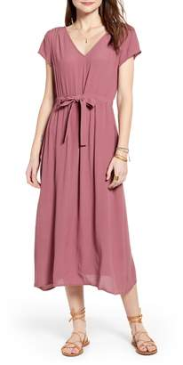 Treasure & Bond Cap Sleeve Midi Dress