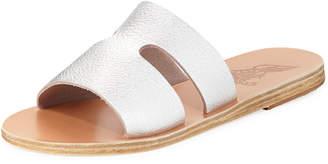 Ancient Greek Sandals Apteros Cutout Leather Flat Slide Sandal