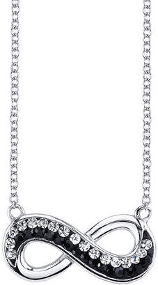 clear CRYSTAL SOPHISTICATION Crystal Sophistication Jet and Crystal-Accent Infinity Necklace