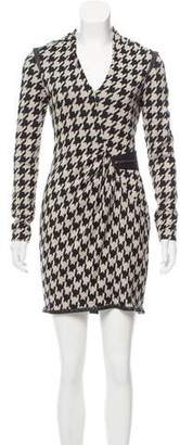 Yigal Azrouel Houndstooth Long Sleeve Dress