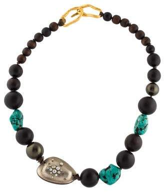Alexis Bittar Dyed Magnesite & Wood Bead Strand