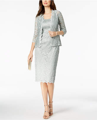 Alex Evenings Lace Midi Dress & Jacket, Missy and Petites