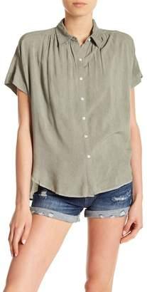 SP Black Shirred Short Sleeve Blouse