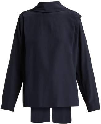 Roksanda Aulna silk-satin tie-neck blouse