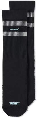 Off-White Off White Reversed Sport Sock