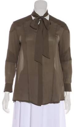 Belstaff Silk Long Sleeve Blouse