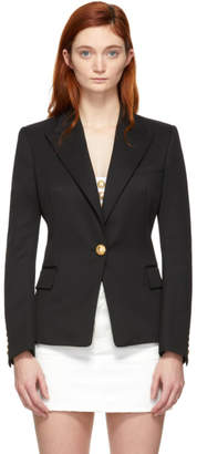 Balmain Black Wool Single-Breasted Blazer