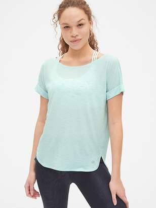 Gap GapFit Breathe Roll Sleeve T-Shirt