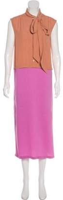 Dries Van Noten Sleeveless Midi Dress