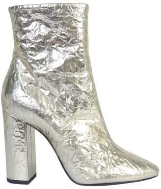 Saint Laurent Metallic High Heel Boots