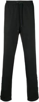 Versace logo strap track trousers