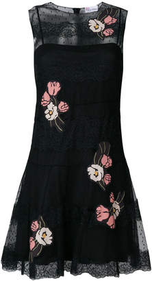 RED Valentino floral lace flared dress