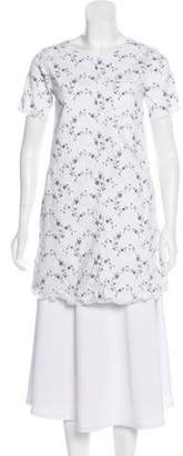 Current/Elliott Floral Print Short Sleeve Tunic