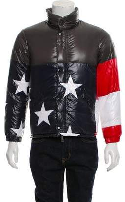Moncler x Thom Browne 2016 USA Flag 10 Reversible Puffer Jacket