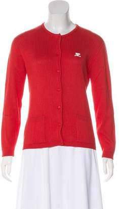 Courreges Rib Knit Cardigan