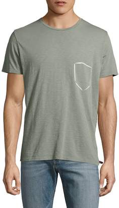 7 For All Mankind Men's Paint Pocket Tee