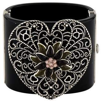 Chanel Gripoix Heart Resin Cuff