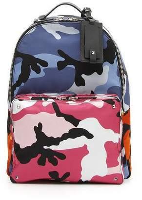 Valentino Men's Multicolor Camo-Print Backpack