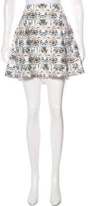 Theyskens' Theory Abstract Print Mini Skirt