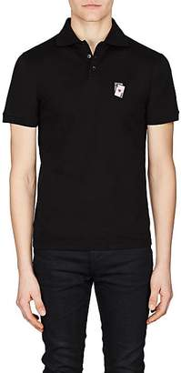 Saint Laurent Men's Playing Card Cotton Polo Shirt - Black