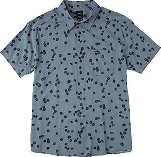 RVCA Men's Od Floral Short Sleeve Woven Shirt